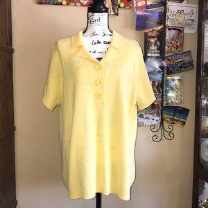 White Stag   Women's short sleeve yellow sweater